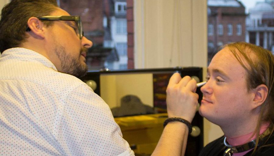 Makeover with Paul Heaton of Born makeup and styling studio