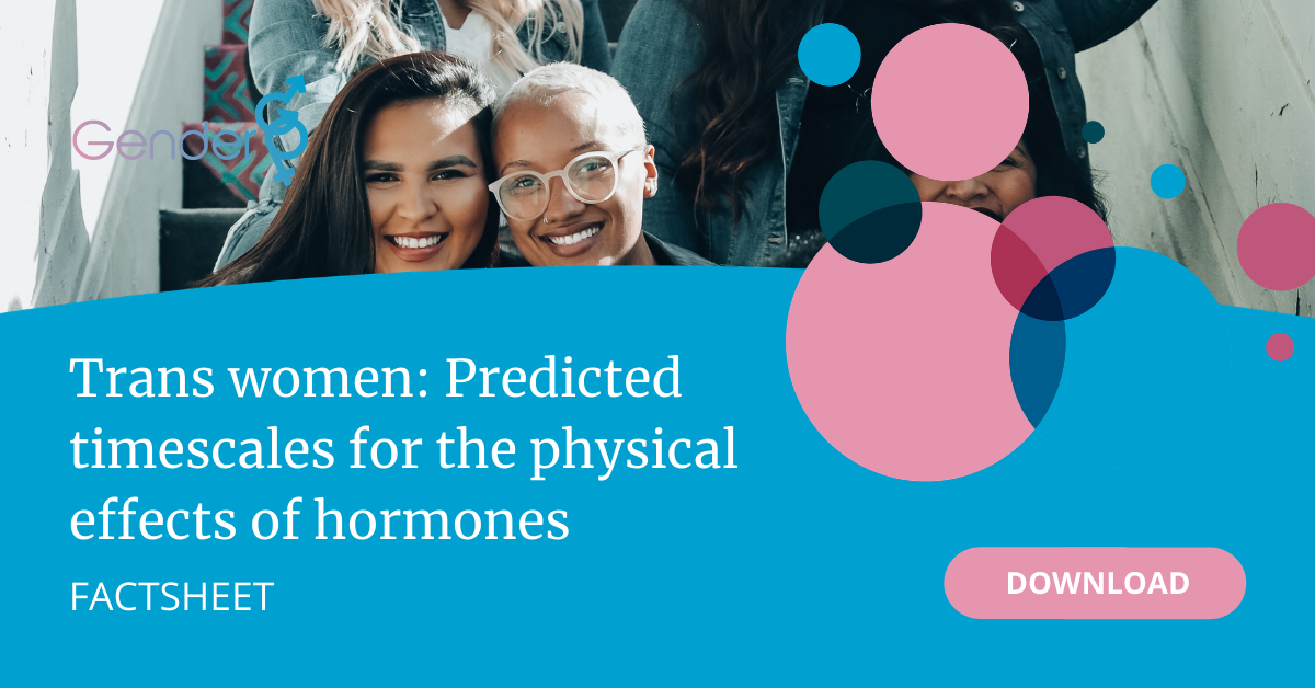 Trans Women: Predicted timescales for the physical effects of hormones