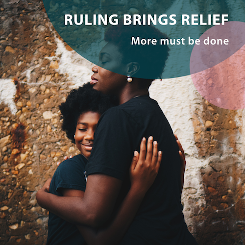 Ruling brings relief - More must be done