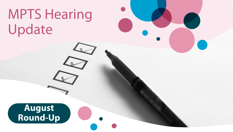 MPTS Hearing: August Round-up
